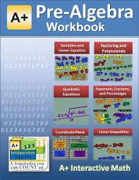 pre algebra 7th or 8th grade math workbook printed b u0026w plasti