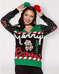 merry bitches sweater sweaters t shirts spencer s