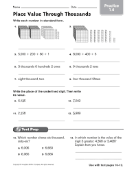 place value through thousandths worksheet free worksheets library