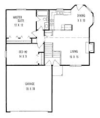 Small Two Bedroom House by Well Suited Small House Large Garage Plans 14 Two Bedroom Home Act