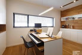 poland modern home interior black white light wood color scheme 19