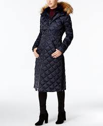 laundry by shelli segal laundry by shelli segal faux fur trim maxi coat coats