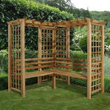 bench arbour benches wooden metal garden arbor bench arbour