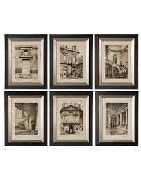 uttermost wall art set of 6 paris scene framed art prints wall