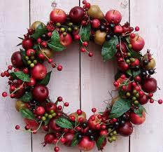 fall wreath fruit wreath apple wreath kitchen wreath kitchen