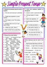 simple present tense worksheet free esl printable worksheets