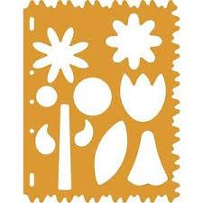 fiskars flowers tulip daisy large card making stencil template
