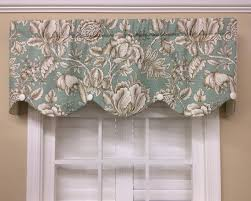 Turquoise Valances For Windows Inspiration Spa Blue Floral Valance Vintage Inspired By Curtainsblindsbath
