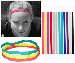 elastic headbands slim single sports elastic headband softball soccer hair band
