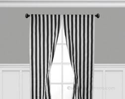 Black And White Stripe Curtains Ticking Stripe Curtain Panels Black And White Stripe Curtains