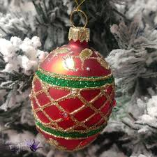 Gisela Graham Christmas Decorations Wholesale by Gisela Graham Festive Hanging Christmas Xmas Tree Glass Egg Bauble