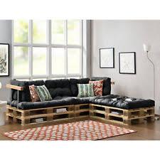 canapé d angle en palette coussin palette de jardin et terrasse beige ebay