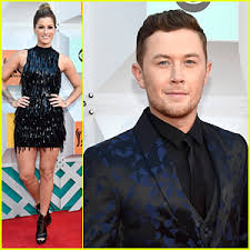 scotty mccreery fan club the voice s cassadee pope idol s scotty mccreery attend the acm