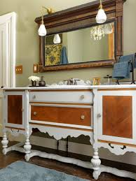 Bathroom Vanities That Look Like Furniture Repurpose A Dresser Into A Bathroom Vanity How Tos Diy
