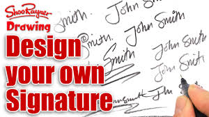 how to design your own amazing signature youtube