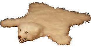 faux polar bear skin rug with head rug designs