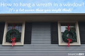 how to hang a wreath in a window