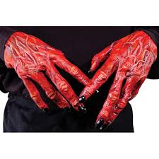 Halloween Monster Hands Skeleton Ghostly Bones Hands Halloween Fancy Dress 3d Costume Grim