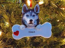 ornaments siberian husky polyresin bone rm566 ebay
