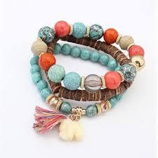 handmade bracelet with beads images Unisex multilayer beads bead handmade bracelets florid cool jpg