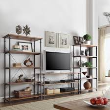Home Decorators Tv Stand The Myra 3 Piece Tv Stand Set With 40 Inch Bookcases Have A