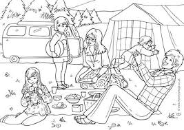 camping colouring