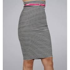 striped pencil skirt dress ala black white pencil skirt fashion skirts