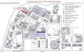 Portland Parking Map Portland State University Map Map Of University Of Portland