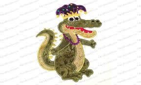 mardi gras alligator gras alligator applique embroidery design