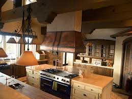 island kitchen hoods copper island kitchen with iron straps traditional