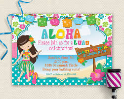 pool party invitations free 20 luau birthday invitations designs birthday party invitations