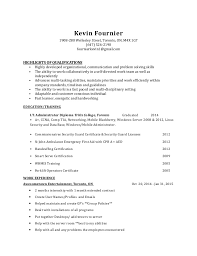 Security Guard Job Description For Resume by Kevin Fournier U0027s It Cover Letter And Resume