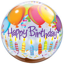 plastic balloons 22 birthday candle cake balloon