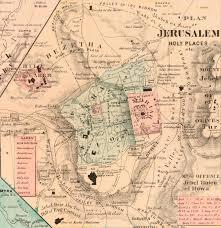 Map Of Jerusalem File Jerusalem Rawson A L Map Of Palestine And All Bible Lands
