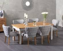 buy the parisian 175cm grey shabby chic dining table with chairs