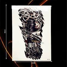 1pc cool mechanical robet arm tattoo men women body art fake