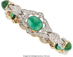emerald diamond gold bracelet images Emerald diamond gold bracelet estate jewelry bracelets chain