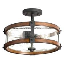 Clearly Modern Semi Flush Ceiling Light Light Rustic Semi Flush Ceiling Light