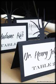 how to make table seating cards diy halloween wedding escort cards gothic cricut me and annabel lee