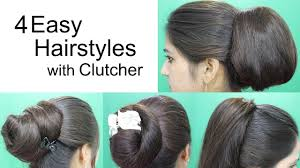 long hair style showing ears 4 awesome hairstyles by using clutcher hairstyles for medium or