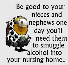 Niece Meme - be good to your nieces and nephews one day you ll need them to