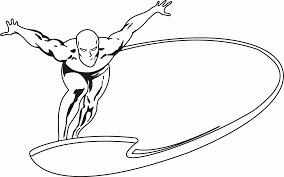 silver surfer coloring pages surf coloring pages black and white