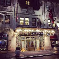 the front of the hotel at christmas picture of warwick new york