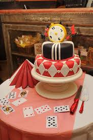 wedding cake in alice in wonderland style stock photo image