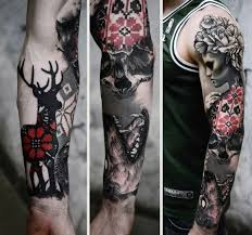 top 80 best skull tattoos for manly designs and ideas