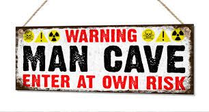 man cave metal tin sign garage game room father dad grandad
