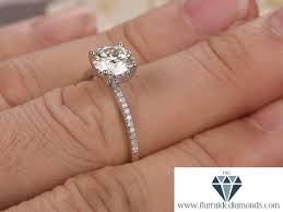 7mm ring 7mm cut moissanite engagement ring diamond band solitaire