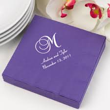 personalized wedding napkins wedding cocktail napkins set of 100 35 colors