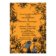 halloween wedding invitations u0026 announcements zazzle co uk