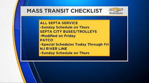 septa announces modified thanksgiving day schedule impacted by